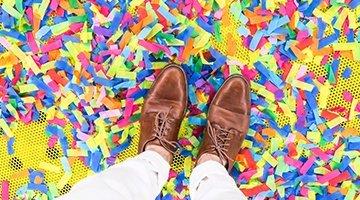 shoes confetti
