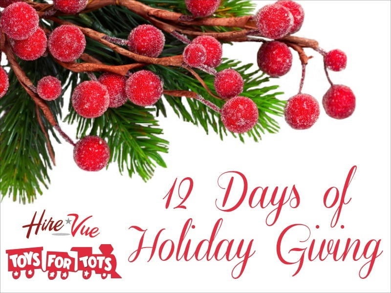 HIREVUE'S 12 DAYS OF HOLIDAY GIVING
