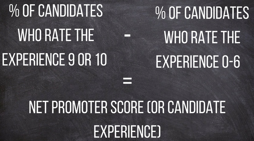 formula to measure candidate experience