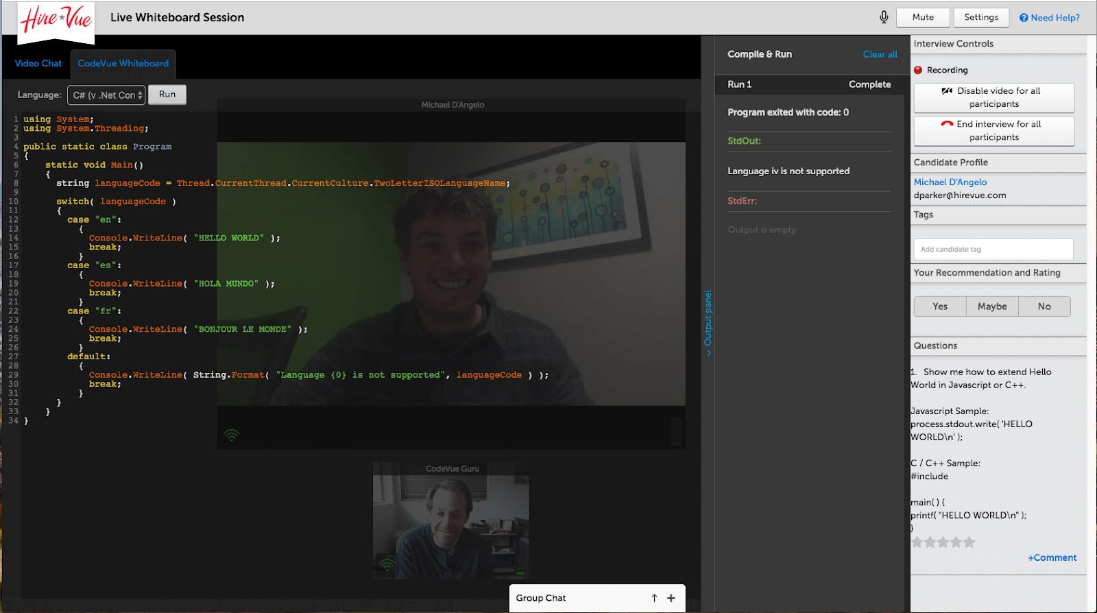 codevue live coding
