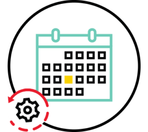 Interview Scheduling Automated Scheduling color icon